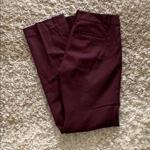 J. Crew Maroon Trousers